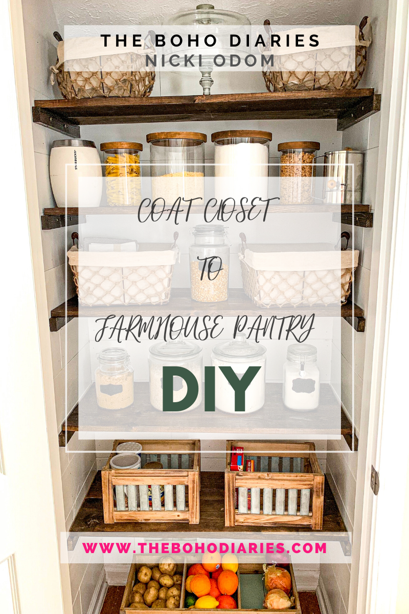Coat Closet To Farmhouse Pantry DIY