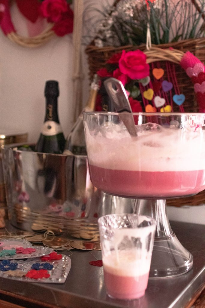 The Boho Diaires Frothy Pink Punch Bowl