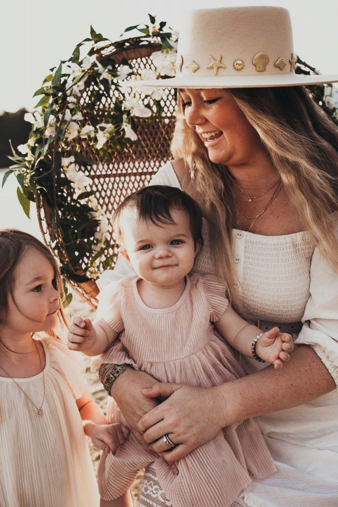 Nicki Odom and daughters for Mother's Day photoshoot