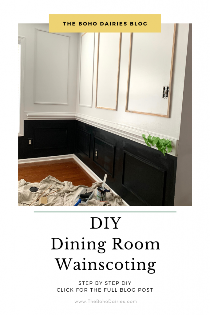 DIY Wainscoting Dining Room