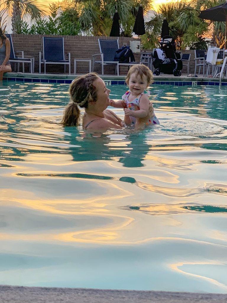 Nicki Odom in Hotel Ballast Swimming Pool Wilmington NC