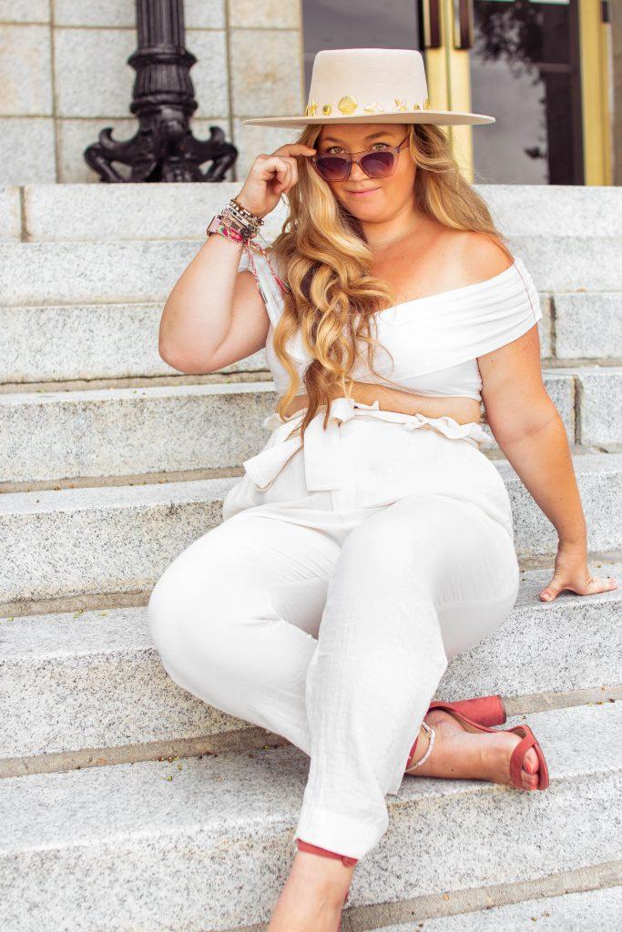 Nicki Odom The Boho Diaries All White Curvy Girl Style