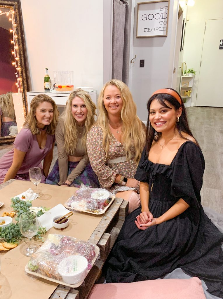 Sunshine Beauty and Bliss team at Evie's Table Charcuterie board class