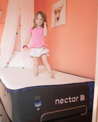 Fist pumps for Caroline's amazing big girl bed🙌🏼 Is it an issue if your toddler loves their bed a little TOO much? [ #NectarSleepPartner ] @nectarsleep sent her their Memory Foam Mattress, and since setting it up, she has slept harder and longer than on any other bed.  Whenever we go out of town, this girl actually cries for her bed every time now.  She is one of those kids that plays so hard and crashes even harder so knowing she loves her bed that much makes me feel reassured that she is getting restful sleep. The gel memory foam is super soft, helps circulate air flow, and distributes weight in a way that helps with me not disturbing Caroline when I leave her to sleep after story time is over each night.   I highly recommend trying @nectarsleep yourself or for your little ones! Head to the #linkinmybio and click to shop. Take advantage of their 100% risk free 365 Day Sleep Trial. They have financing available and a Forever Warranty which is unheard of! Like I said, to my link and shop and check out my stories for an up close look at Caroline receiving her big girl bed and real time review! Thank you so much @nectarsleep for supplying my girl with the most comfortable space I've ever seen her sleep💗  #NectarSleep #ILoveMyNectar #NectarMattress #ToddlerRoom #NectarAmbassador #Bettersleep #BigGirlBed